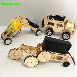 Happyxuan 3 define DIY Kit Madeira Invenções Da Ciência Experimento de Física Da Escola de Criação de Jogos Garoto Menino 5 Anos Brinquedo Criativo Handwork