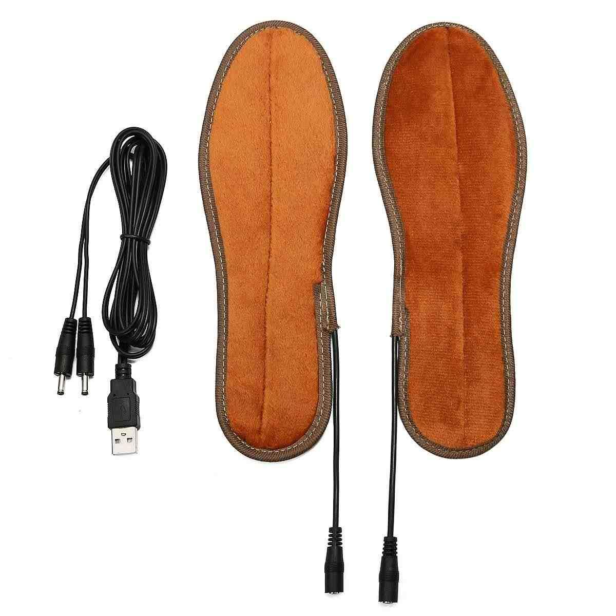 للجنسين USB قابلة للشحن تسخين كهربائي النعال للأحذية معطف شتوي منصات التدفئة القدم الأحذية شحن نعل سخان