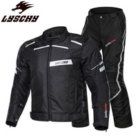 LYSCHY Urban Moto Motorcycle Jacket Riding Coat Reflective Clothing Man Body Armor Protection Suit Men Equipment Racing Jackets