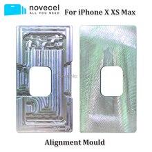 Novecel 1 szt. Precyzyjna aluminiowa forma wyrównująca do iPhone X XR XS Max ekran LCD i przednia szyba