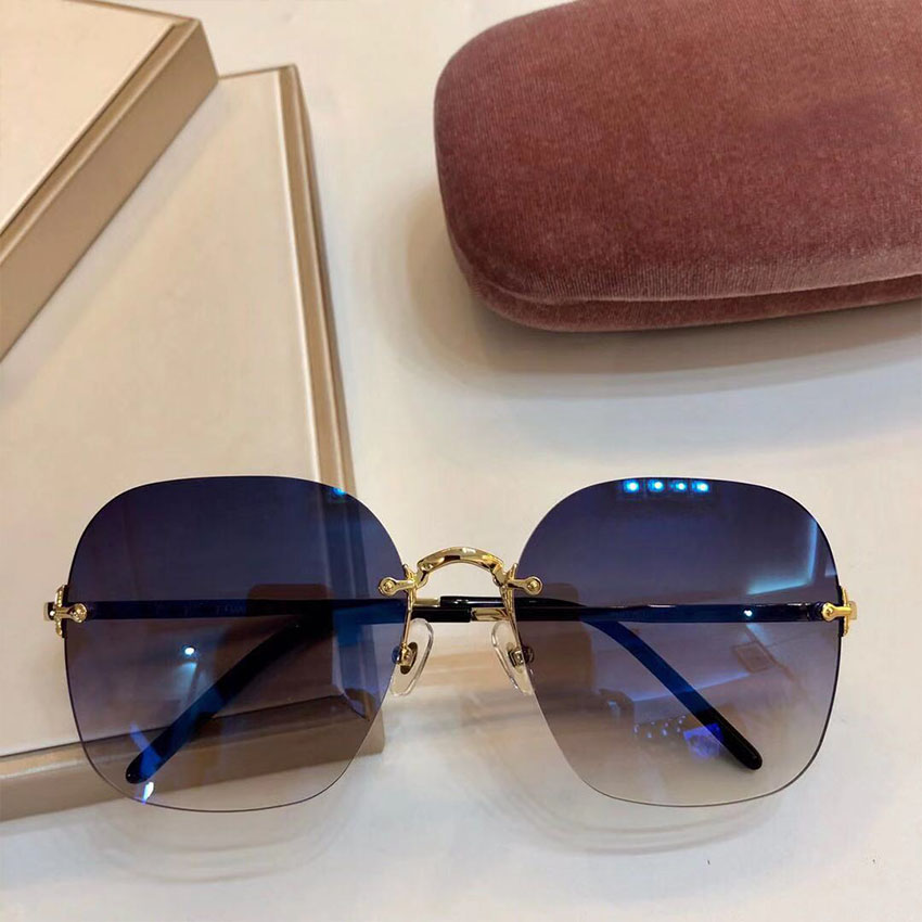 Frauen Lens Brille light Brown purple light Fashion Shades Luxus So Promi Gold amp; Marke Sonnenbrille Uv400 navy Randlose Designer Yellow Light Sams Gray dark Weibliche Blue Gradient X10fxUw
