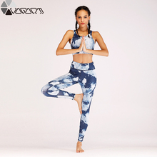 Print Running Yoga Set Fitness Women Sport Suit 2 Pieces Costume Training Jogging Sports Bra+Legging Wear