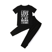 Kids Clothes Set Baby Boys Letter Print T-shirt Tops Pants Summer Children Clothes Set Boys Outfits Kids Costume Tracksuit Se цена 2017