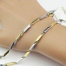 Лидер продаж цвета: золотистый, серебристый Для мужчин цепи Цепочки и ожерелья Нержавеющая сталь Для женщин костюм Саржевые ожерелья цепь модная обувь под вечернее платье Jewelry A867