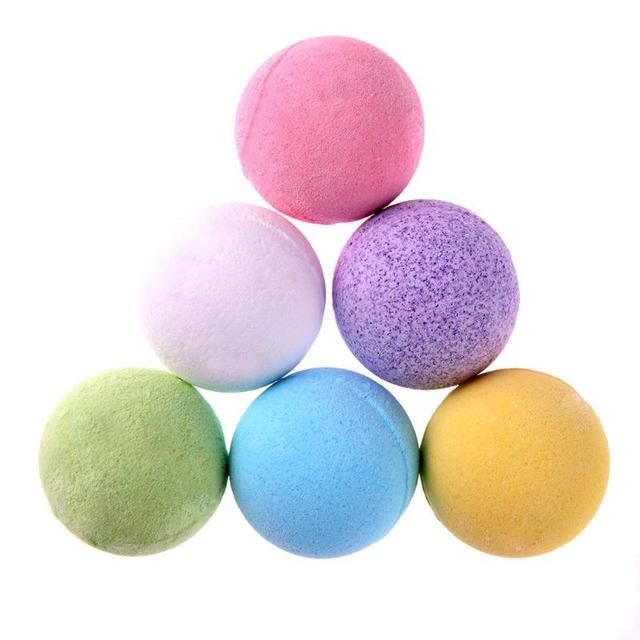 1pc Bath Salt Ball Body Skin Exfoliate Whitening Ease Relaxion Stress Relief Natural Bubble Shower Bomb Ball 5color Cleaner Spa 1