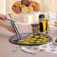 25Pcs/Set DIY Cookies Press Cutter Molds Cylinder Extrusion Molding Biscuits Maker Machine Kitchen Baking Tool