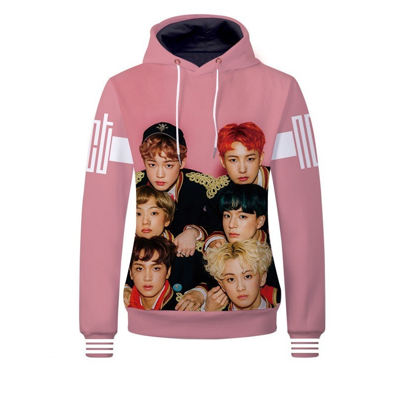 Kpop BTS GOT7 Blackpink NCT Sweatshirt Women Hoodie Jimin SUGA JUNG KOOK Jackson Bambam Fashion 3D Clothes oversized hoodie
