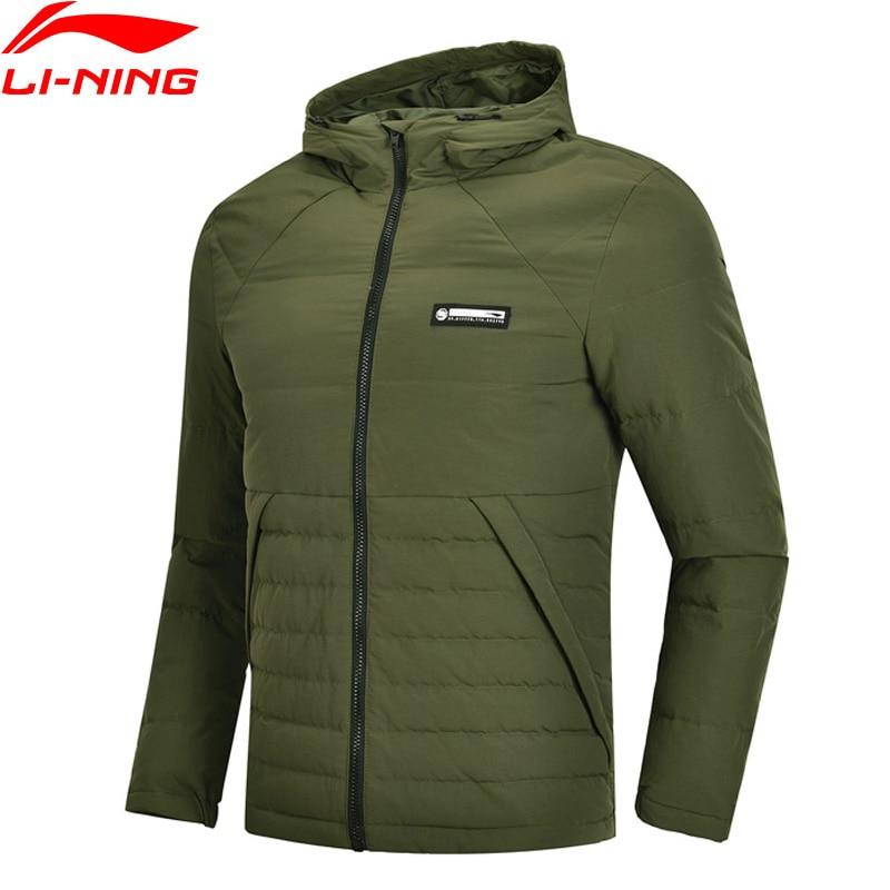 Li-Ning Men BAD FIVE Basketball Series Short Down Coat AT PROOF SMART Duck Down Warm LiNing Sport Winter Jacket AYMN013 MWY311