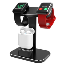2 in 1 Watch charging Stand for Apple Watch iWatch Series 4/3/2/1/AirPods Aluminum charger charging Dock Station desktop Holder 4 2v 1 2a desktop electronic cigarette charger charging dock holder for iqos 2018new