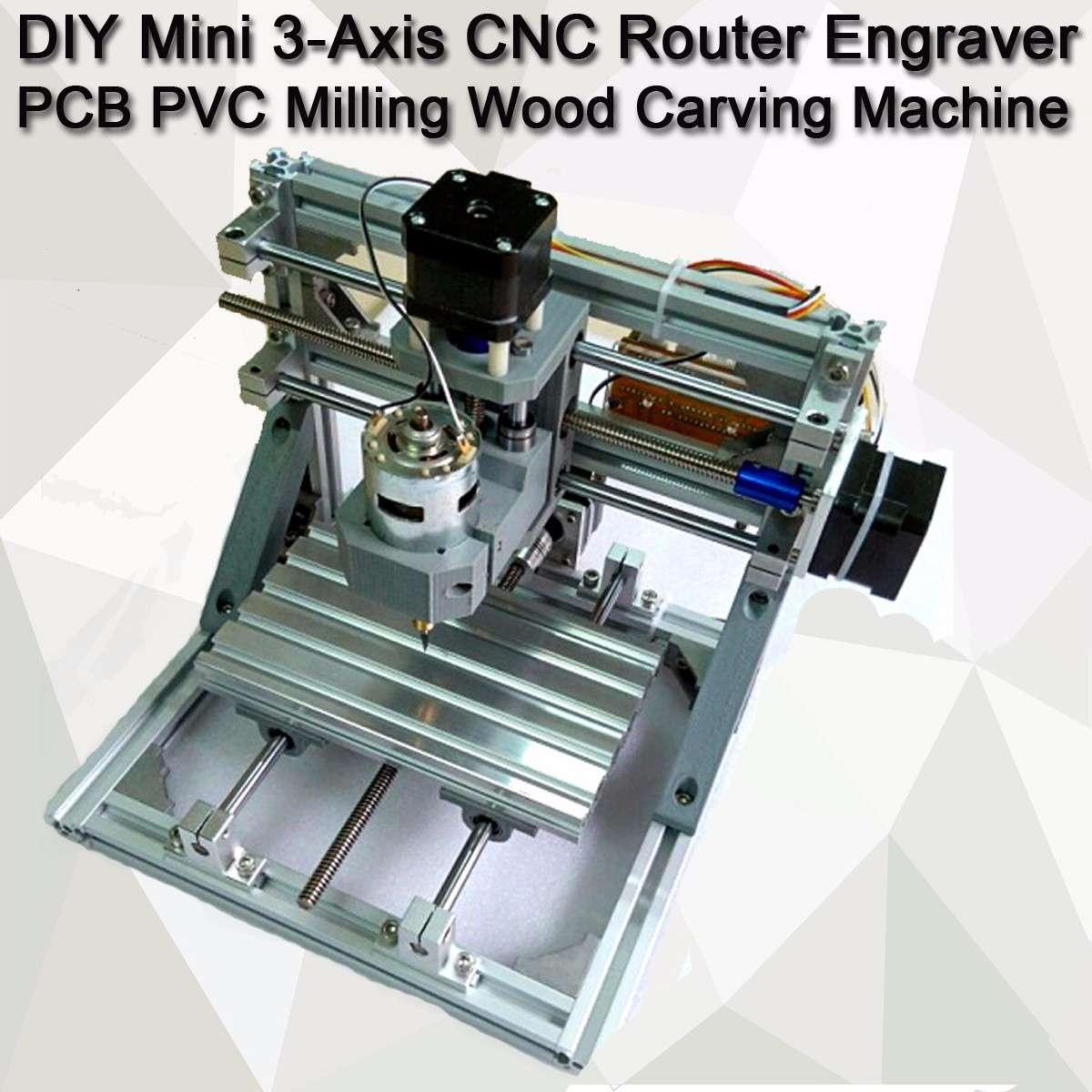 DIY Mini 3 ejes CNC enrutador grabador PCB PVC fresadora de madera tallada máquina DIY M
