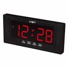 Vst duży wyświetlacz elektroniczny zegar ścienny led z budzikiem do użytku domowego budzik biurkowy europy 24 godzina zegar