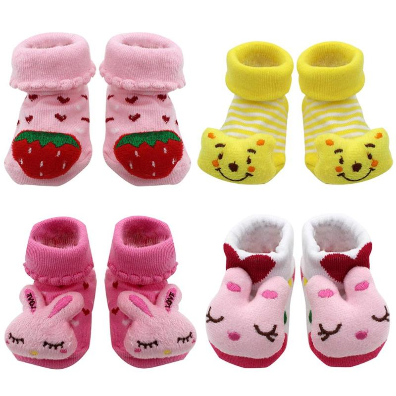 Cartoon Baby Socks Newborn Baby Girls Boys Anti-Slip Socks Slipper Shoes Boots Toddlers Autumn Spring Socks For 0-6-12month