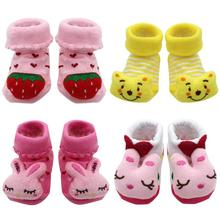 Newborn Baby Girls Boys Anti-Slip Socks Slipper Cartoon Baby Socks Shoes Boots Toddlers Autumn Spring Socks For 0-6-12month cheap CN(Origin) Baby Cartoon Cotton Sock Anti Slip Floor Wear Combed cotton(85 cotton 15 Spandex) 9cm 3 5in (Suitable for 0-12 months baby)