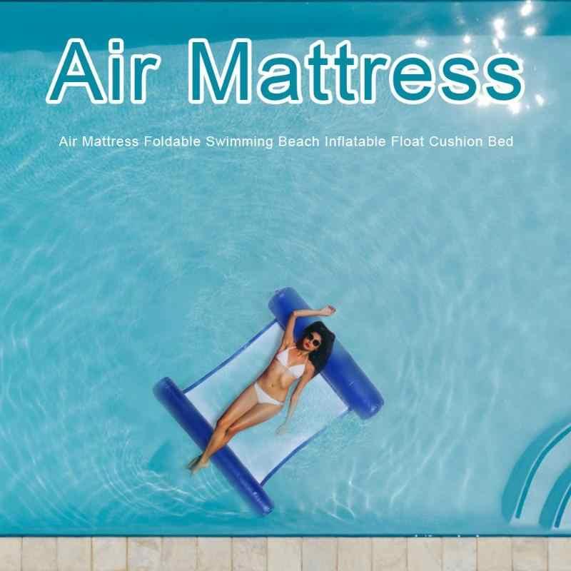 Rede de Água Cama Flutuante inflável Colchão de Ar Esportes Lounge Chair Drifter Piscina Praia Flutuador Cadeira Cama de Dormir