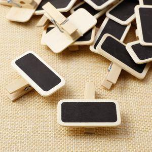 50 البسيطة السبورة الخشب رسالة سليت مستطيل كليب كليب لوحة بطاقة المذكرات تسمية العلامة التجارية سعر مكان عدد الجدول