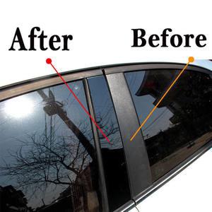 Image 3 - 닛산 Qashqai 201 jfs를위한 8pcs 거울 창 기둥 포스트 손질 닛산 QASHQAI 2016 2018 년을위한 중간 BC 란 차 스티커