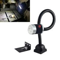 CLAITE 3W 500mm LED Machine Work Lamp Industrial CNC Machine Lathe Tool Light Milling Machine Work Light with Plug 220V