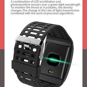 Image 3 - Z01 inteligentna bransoletka Ip67 wodoodporna fitnes Tracker krokomierz aktywny opaska monitorująca aktywność Big Dial Smartband tętno inteligentny Ba