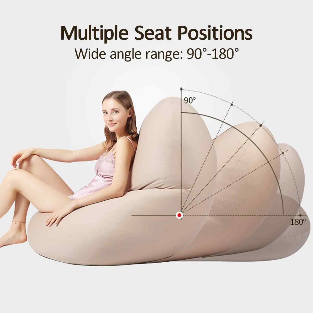 Водонепроницаемый уютное кресло-мешок покрывало на диван стулья без наполнителя льняной ткани лежак сиденье мешок фасоли пуф Puff диване татами Гостиная