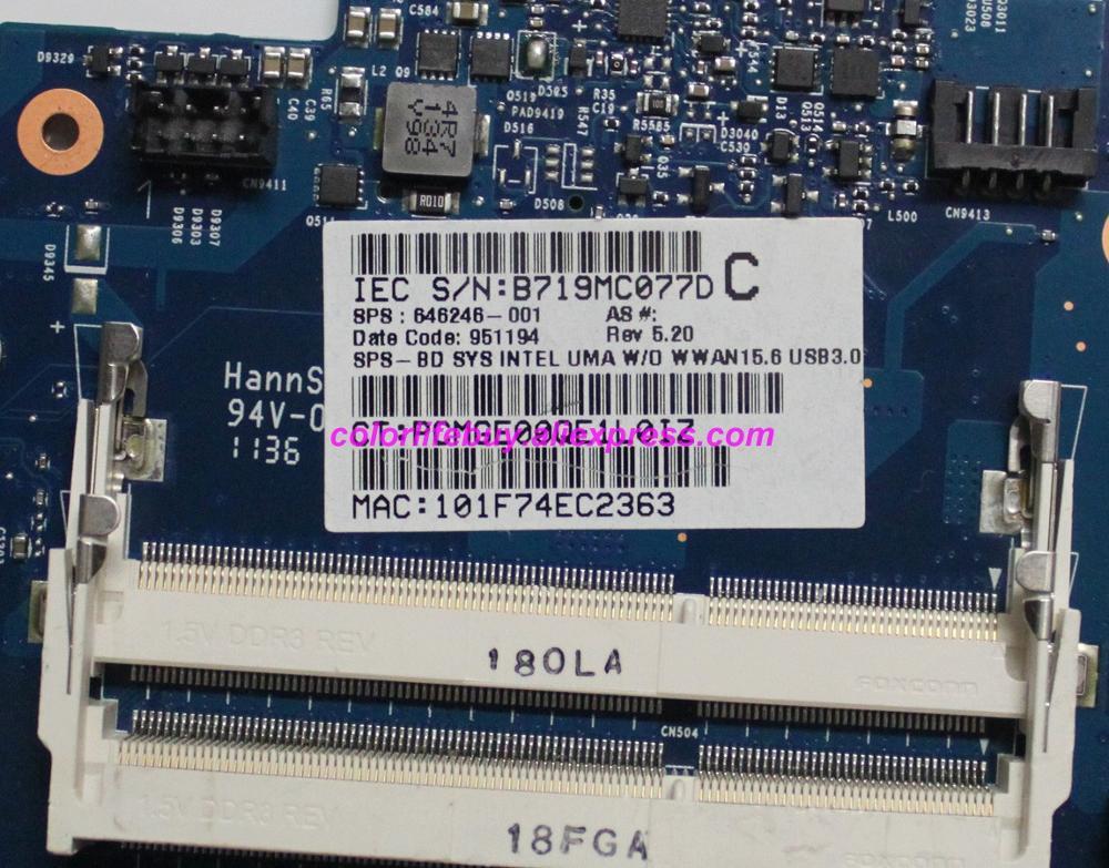 Image 3 - Подлинная 646246 001 6050A2465501 MB A02 Материнская плата ноутбука для hp ProBook 4530 S 4730 S серии ноутбук ПК-in Материнская плата для ноутбука from Компьютер и офис
