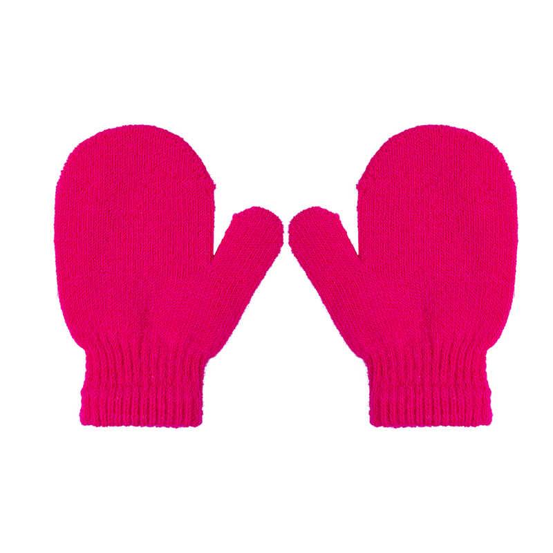 1 זוג כפפות 7 צבעים בוהקים תינוק בנות בני חורף חם כפפות 2018 חדש פעוטות ילדים בייבי מוצק חם Kinting כפפות כפפות