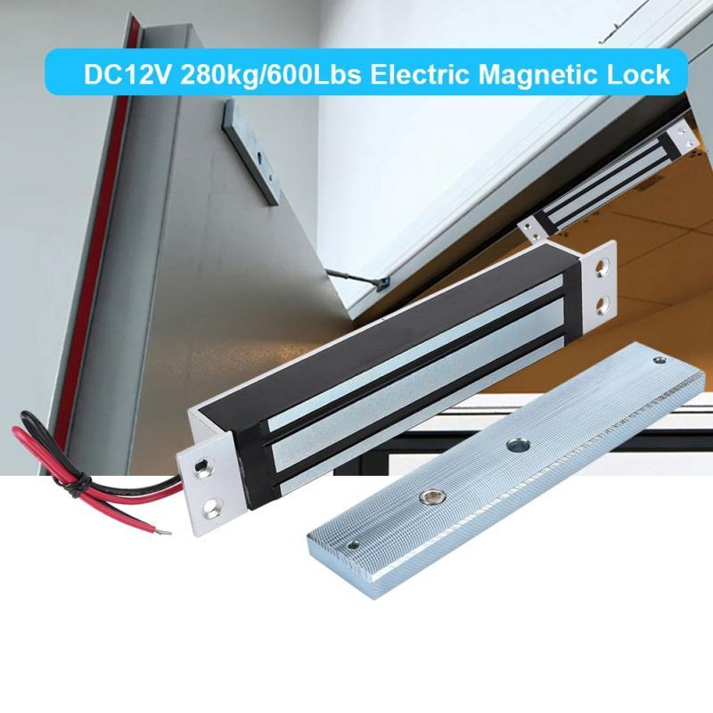 DC12V 280 kg/600Lbs Électrique serrure magnétique Force de Maintien Électro-Serrure De Porte de Sécurité À Domicile Casier 12 V/400mA