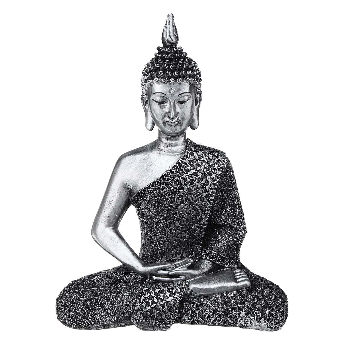22*10*28cm Buddha Statue Meditation Thailand Feng Shui Sculpture Buddhism Figurine Budda Miniature Home Decor Ornaments Gift