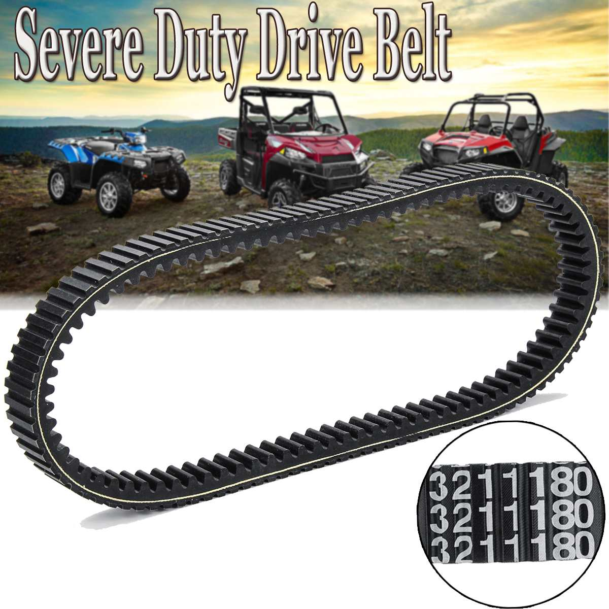 Elite Severe   Drive Belt For Polaris 2015-2017 Rzr S Xp Xp 4 1000 3211180