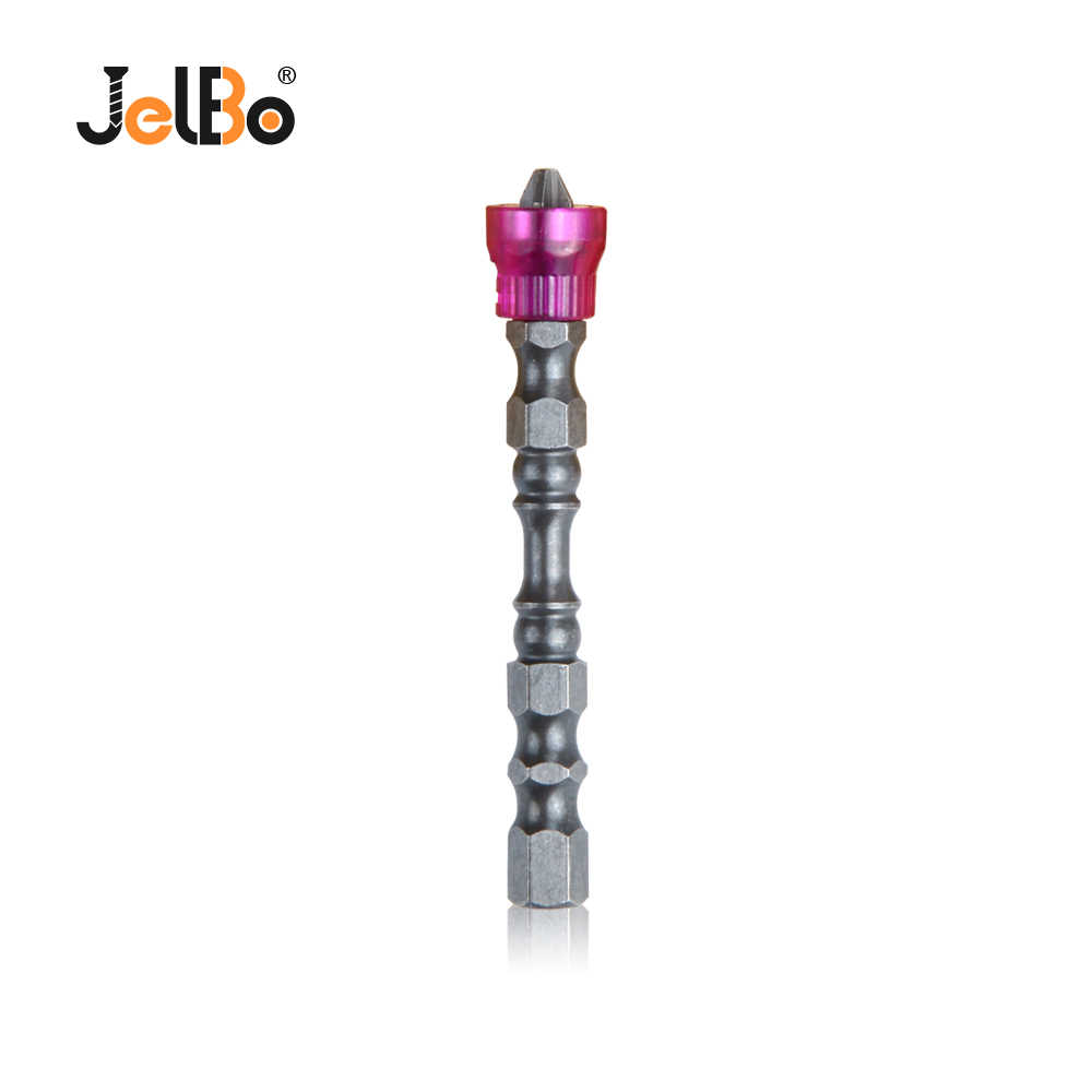 Jelbo 65MM Single Head Cross magnetic Ring  Screwdriver Bit Purple Ring Anti-slip Hardness Screw Driver Set Power Tools