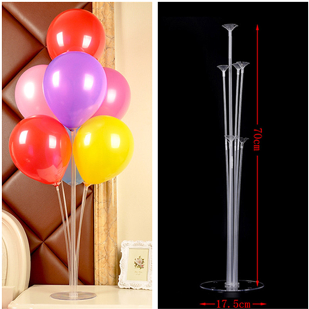 7 Tubes Balloons Holder Column Stand Clear Plastic Balloon -9613