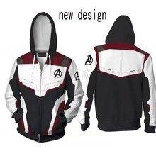 Hoodie Cosplay Avengers Endgame Quantum Realm Sweatshirt Jacket Advanced Tech Costumes Avengers End Game Hood Superhero Hoodies