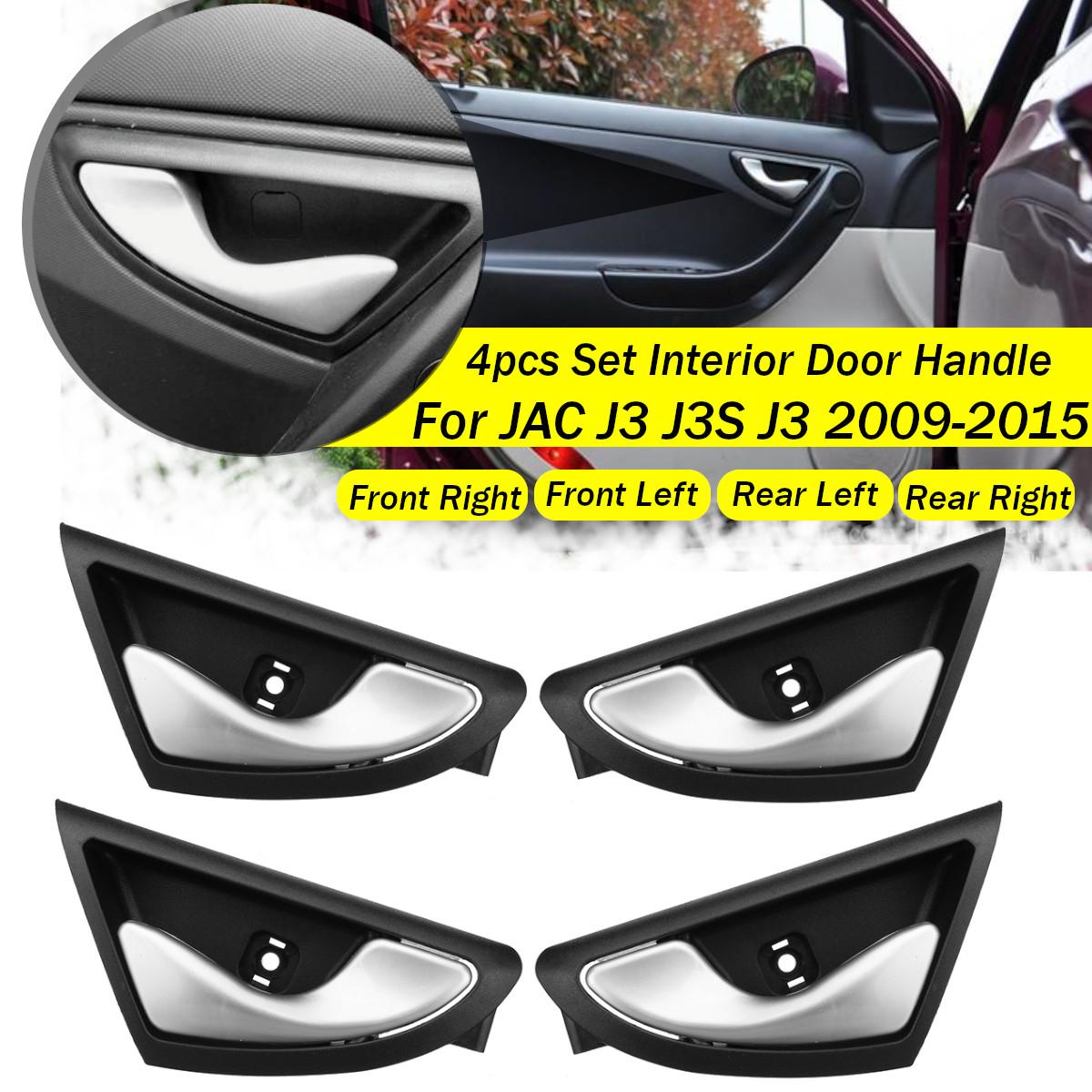 4Pcs Car Interior Inner Door Handle Handles Knob Open 6105230u8010 For JAC J3 J3S J3 Turin 2009 2010 2011 2012 2013 2014 2015