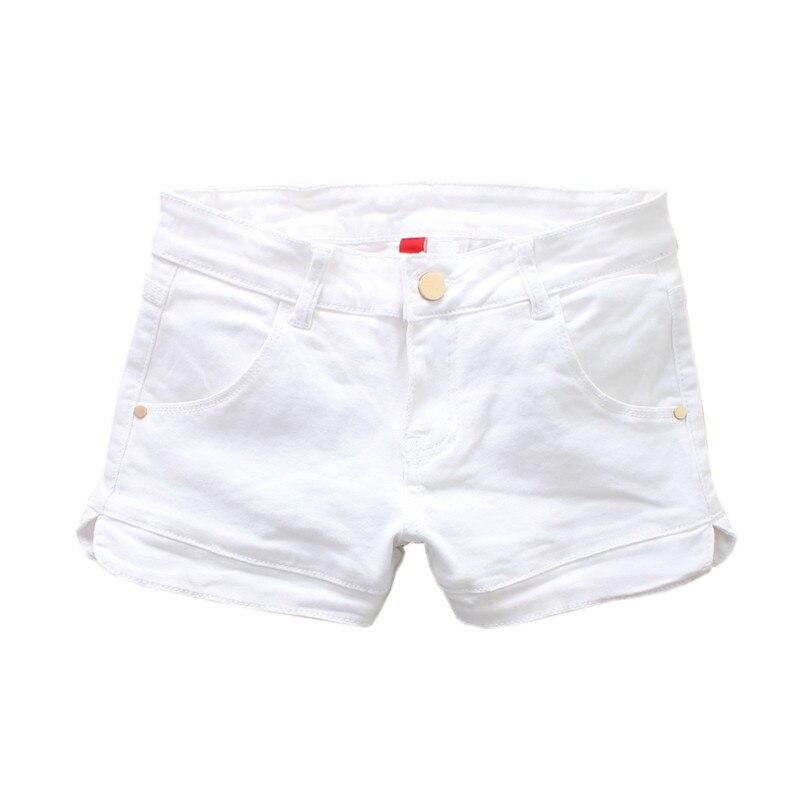 New 2020 Summer Sexy Low Waist Washed Denim Shorts Women White Streetwear Mini Slim Elastic Skinny Short Jeans Plus Size