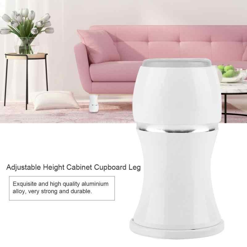 Регулируемая высота шкафа ножка шкафа диван Полка для кухни ноги дома мебель ноги Противоскользящий резиновый коврик закаленный стеллаж ноги