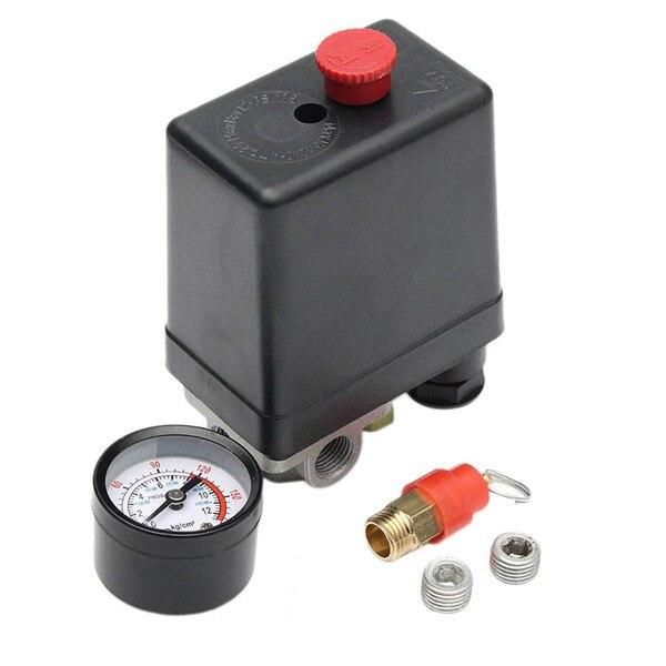 Air Compressor Pump Pressure 90-120 Psi Switch Control Valve 12 Bar 240V 4 Port Hot Air Pump Control Valve 220-240V