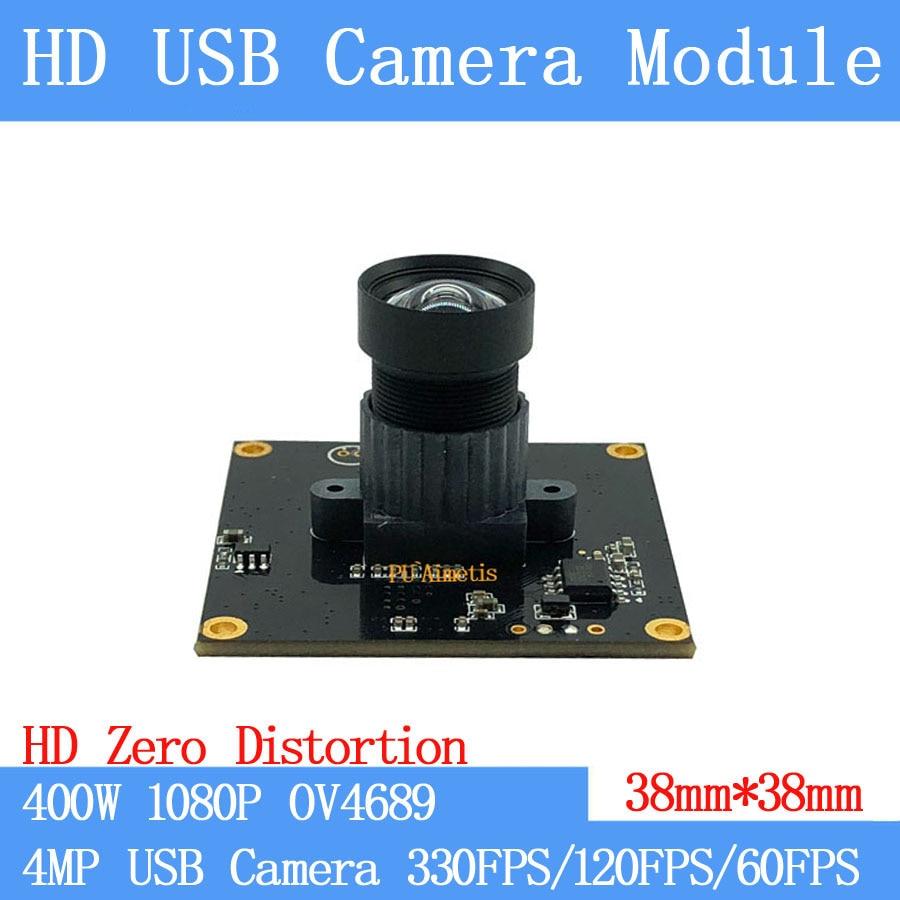60FPS/120FPS/330FPS MJPEG USB Camera Module Non Distortion High Speed 4MP Full HD 1080P Webcam UVC Surveillance