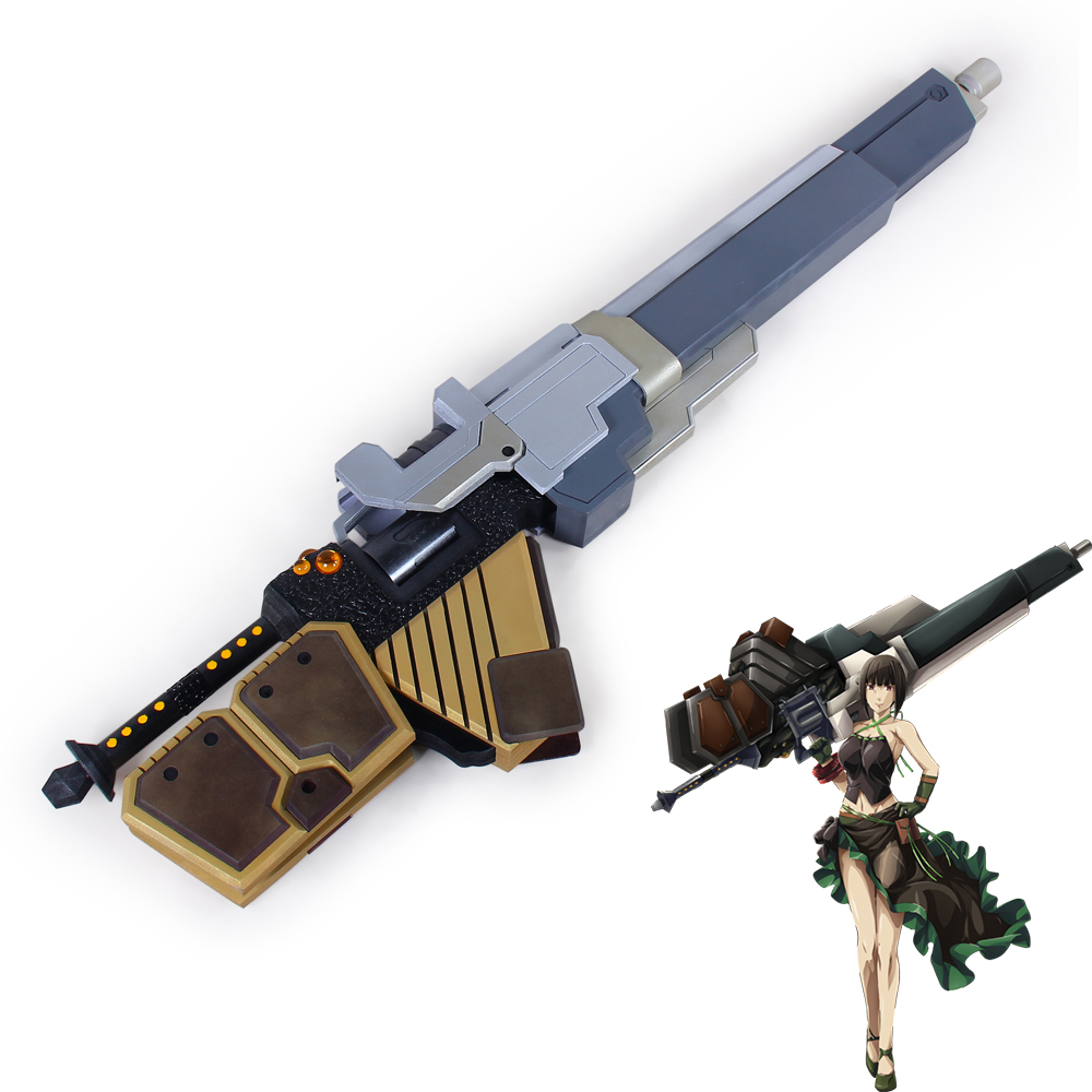God Eater Sakuya Gun Weapon Pvc Cosplay Prop Costumes & Accessories