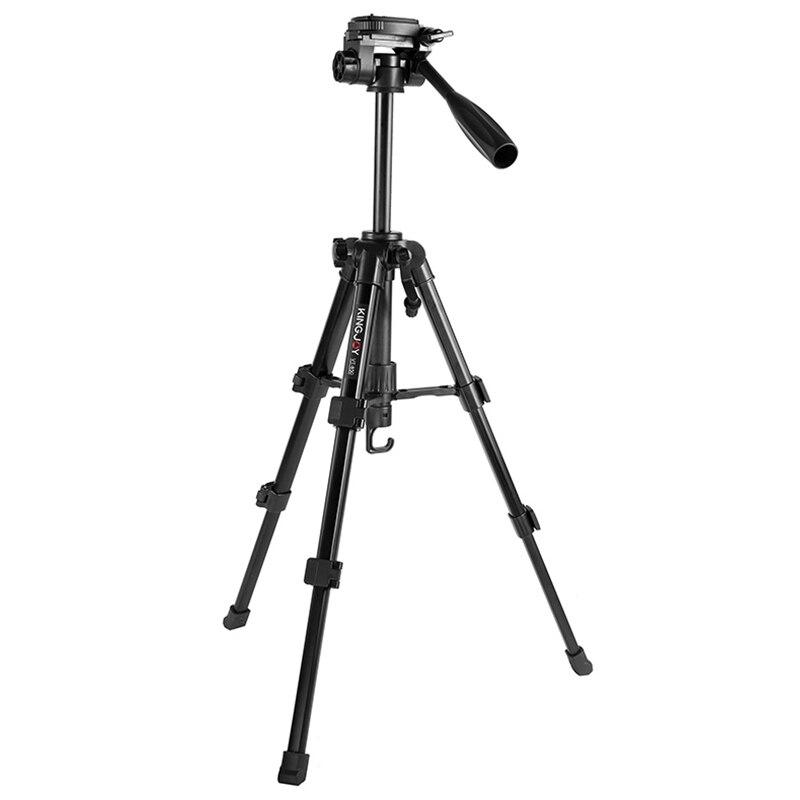 KINGJOY Vt-850 Lumière trépied vidéo Kits trépied de caméra Stand Profesional Avec bras oscillant Flexible boîte de transport