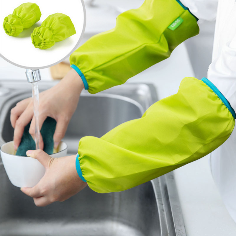 Kitchen Cooking Sleeve Oxford Cloth Thicken Antifouling Waterproof Sleeve 1PC
