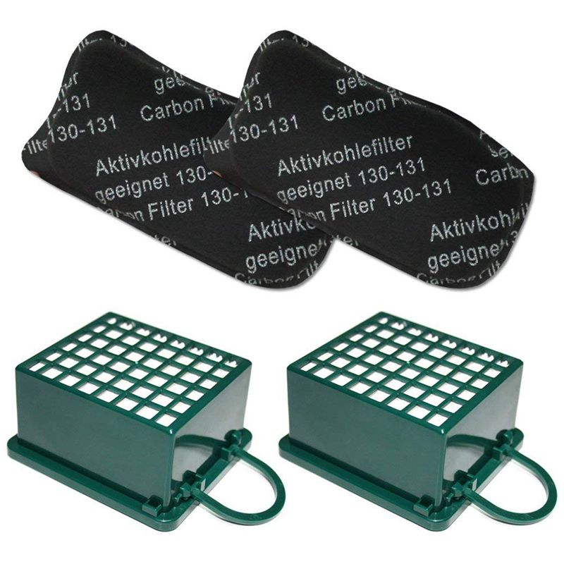 filter set odor activated carbon AGF HEPA micro filter microfilter hepafilter For <font><b>Vorwerk</b></font> Kobold VK 130 131 SC <font><b>VK130</b></font> VK131 image