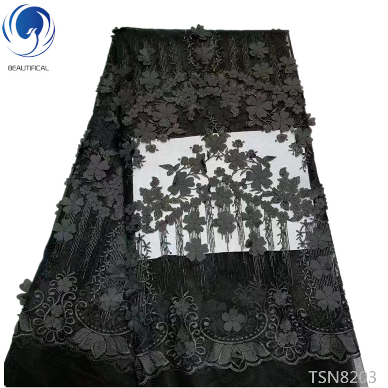 BEAUTIFICAL 3d flower lace fabrics african lace fabrics french tulle lace fabrics for wedding dress 5yards/lot TSN82BEAUTIFICAL 3d flower lace fabrics african lace fabrics french tulle lace fabrics for wedding dress 5yards/lot TSN82