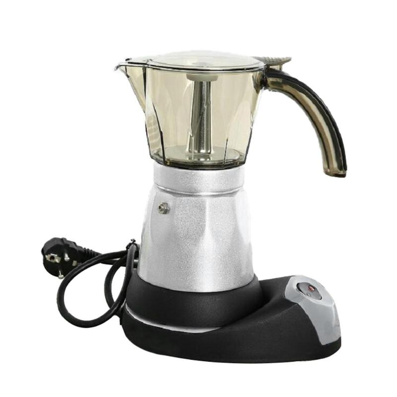 Image 2 - 150/300Ml Portable Electric Coffee Machine Stainless Steel Espresso Mocha Coffee Maker Pot For Home Kitchen Tools EU Plug-in Coffee Makers from Home Appliances