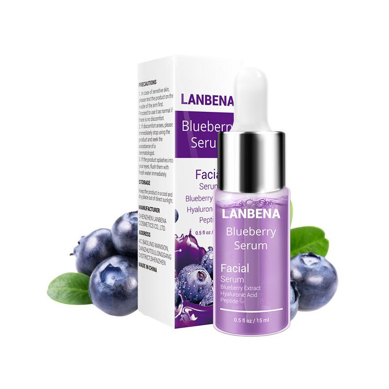 Blueberry Wonder Essence For Face Skin Care Effect Plant Extract Anti Wrinkle Facial Serum Sodium Hyaluronate Serum 15ML 40