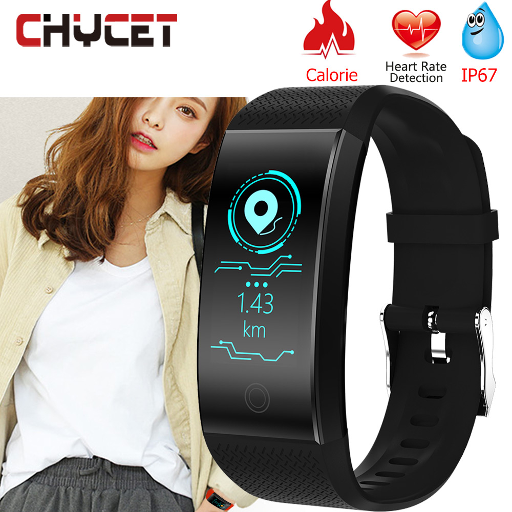 Original QW18 Fitness Bracelet Watch Blood Pressure Smart Bracelet IP68 Waterproof Swimming Sleep Tracker Sport For Android Ios image