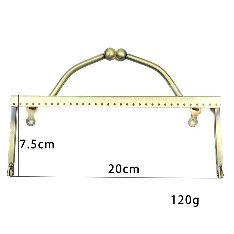 HAOFA 20cm Square Smooth Surface Bag Accessoris DIY Metal Purse Frame Metal Fixed Handle  Frame 3pcs/lot Accessories For Bag