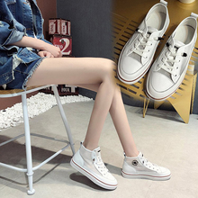 Fashion High Top Canvas Shoes For Women Classic Lace-up Spring Autumn Vulcanized Flat With Casual Shoe Breathable Sneakers Shoes new spring autumn fashion high top unisex shoes with flat breathable women platform casual shoes men shoes plus size 38 48