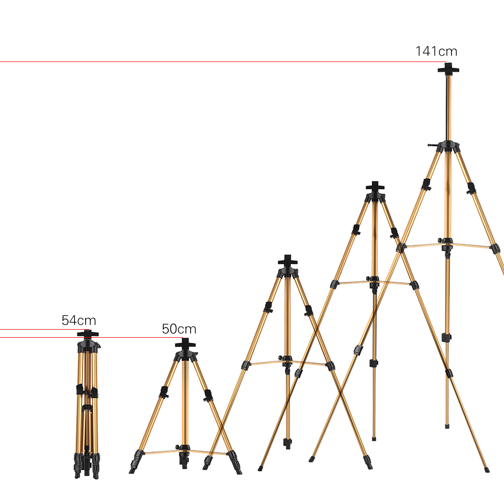 Image 5 - Aluminum Easel Stand Tripod Adjustable Height 19 55 Lightweight Sturdy Field Easel for Painting with Carrying BagEasels   -