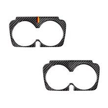 Für Mercedes Benz C Klasse W205 C180 C200 C300 GLC260 Carbon Faser Auto Wasser Tasse Halter Rahmen Abdeckung