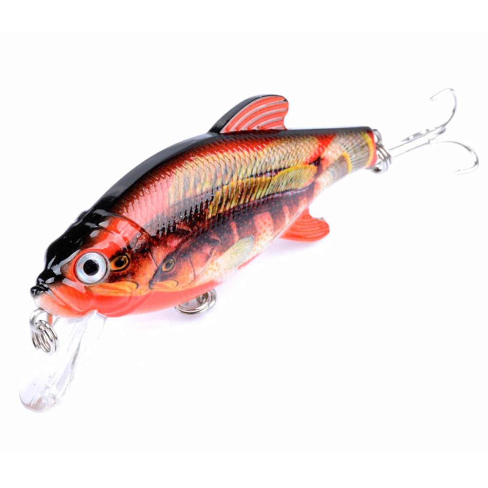 3 шт Окрашенные Пластиковые наживки рыболовные блесны окрашенные серии Bionic приманки из твердого пластика жизни как Swimbait (набор из 3 цветов)