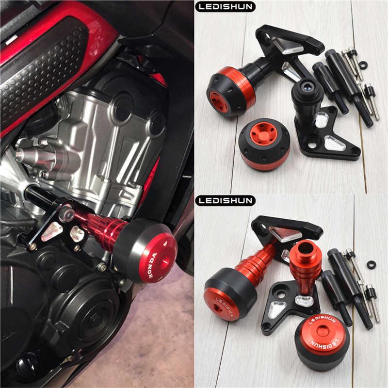Motorcycle Frame Crash Pads Engine Case Sliders Protector for Honda CBR650R 2019-2020 CB650R Neo Sports Cafe 2019-2020 CB650F 2017-2020 Blue